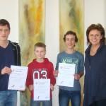 Drei Bundessieger beim Biber der Informatik aus dem BG|BRG St. Martin